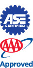 ASE and AAA logos